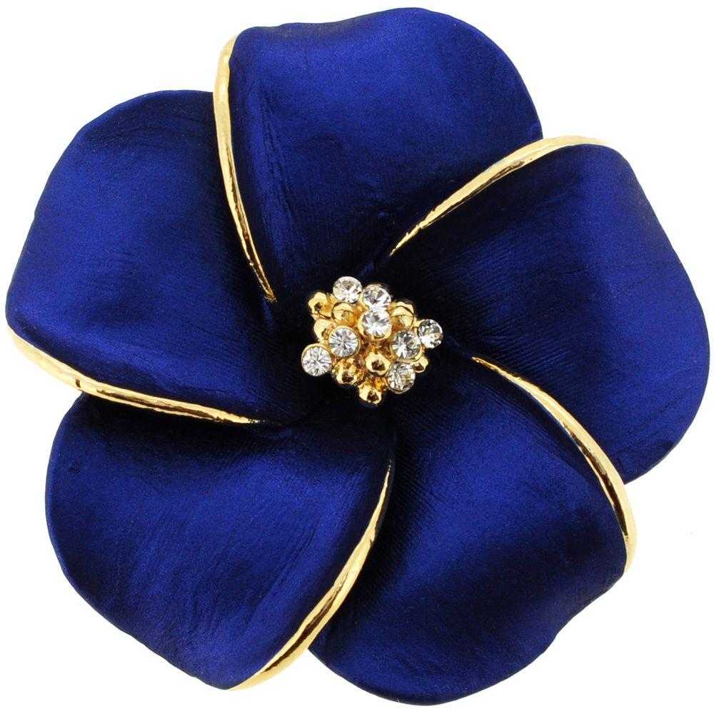 Blue hawaiian plumeria flower swarovski crystal pin brooch and blue hawaiian plumeria flower swarovski crystal pin brooch and pendantchain no included izmirmasajfo Images