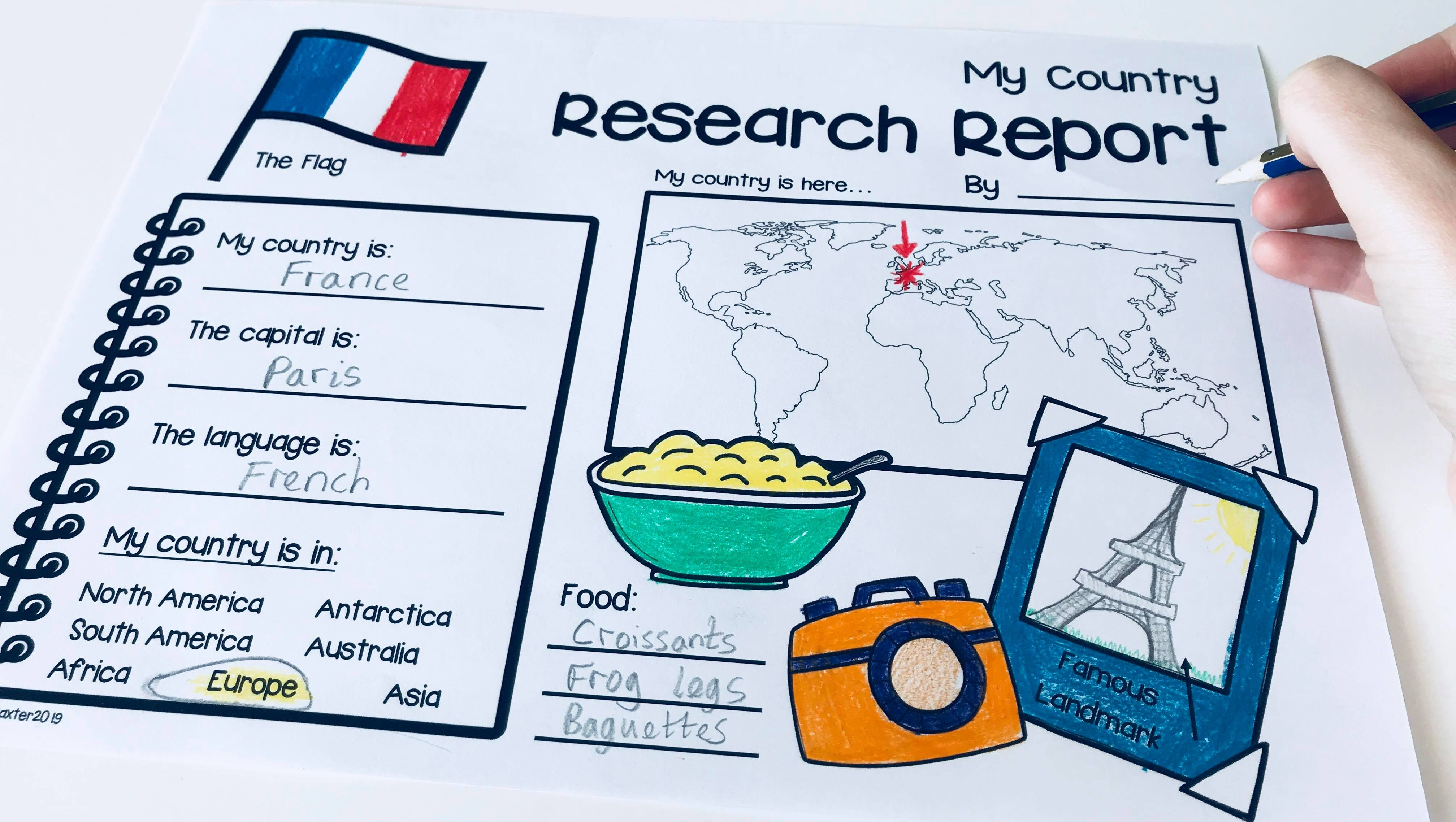 Country Research Report Worksheets Amp Graphic Organizers
