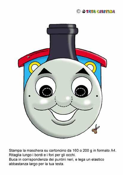 thomas mask | family | Pinterest | Traktoren, Eisenbahn und ...