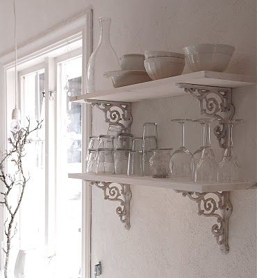 A Little Kitchen Fluffing Shabby Chic Shelves Shabby Chic Interiors Shabby Chic Kitchen