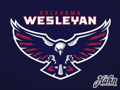 Oklahoma Wesleyan University Primary Logo Bird Logos Bird Logo Inspiration Sports Logo Design