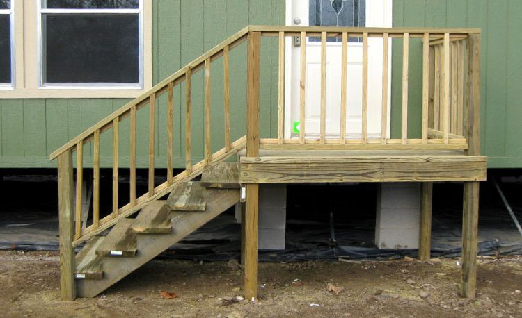 If You Have A Raised Front Door Back Door Or Side Entrance To | Wooden Stairs For Mobile Home | Pre Built | Prefabricated | Simple | Wood Camper | Patio
