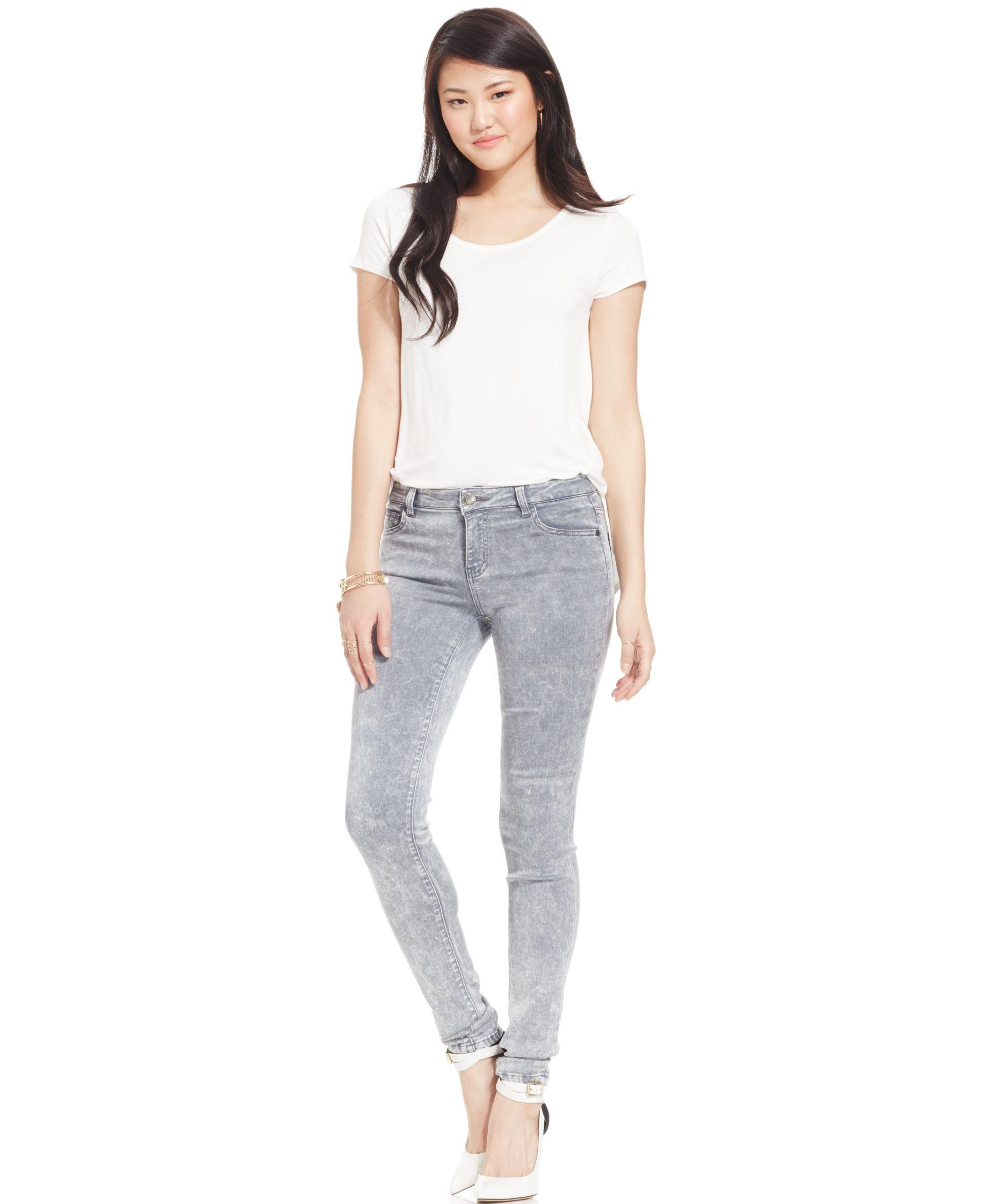 Celebrity Pink Jeans Juniors' Super-Soft Skinny Jeans, Stormy Acid Wash