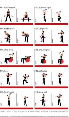 barbell circuit for exercising at home  weight training