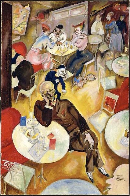 Cafe 1920s By Georg Grosz 1893 1959 Art Degenerate Art Expressionist Art