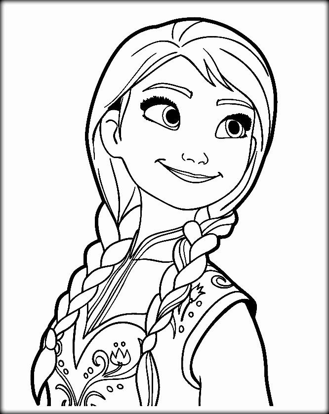 28 Anna Frozen Coloring Page (With images) | Princess ...