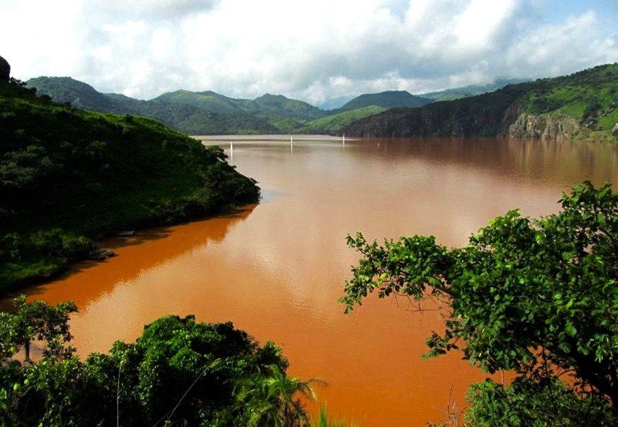 Orange water in Lake Nyos Cameroon 2012 2 | Lake nyos, Lake, Orange water