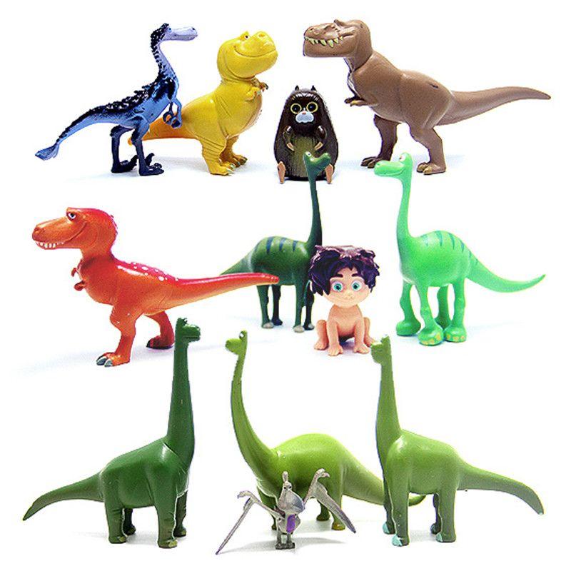 12 개/몫 좋은 공룡 액션 그림 장난감 3-7 센치메터 PVC 만화 그림 장난감 애니메이션 Brinqudoes