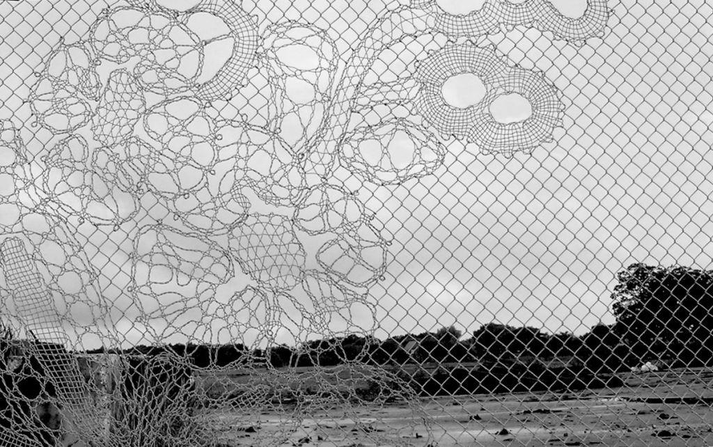 Beautiful lace fence designed by Dutch studio Demakersvan. I wish I ...