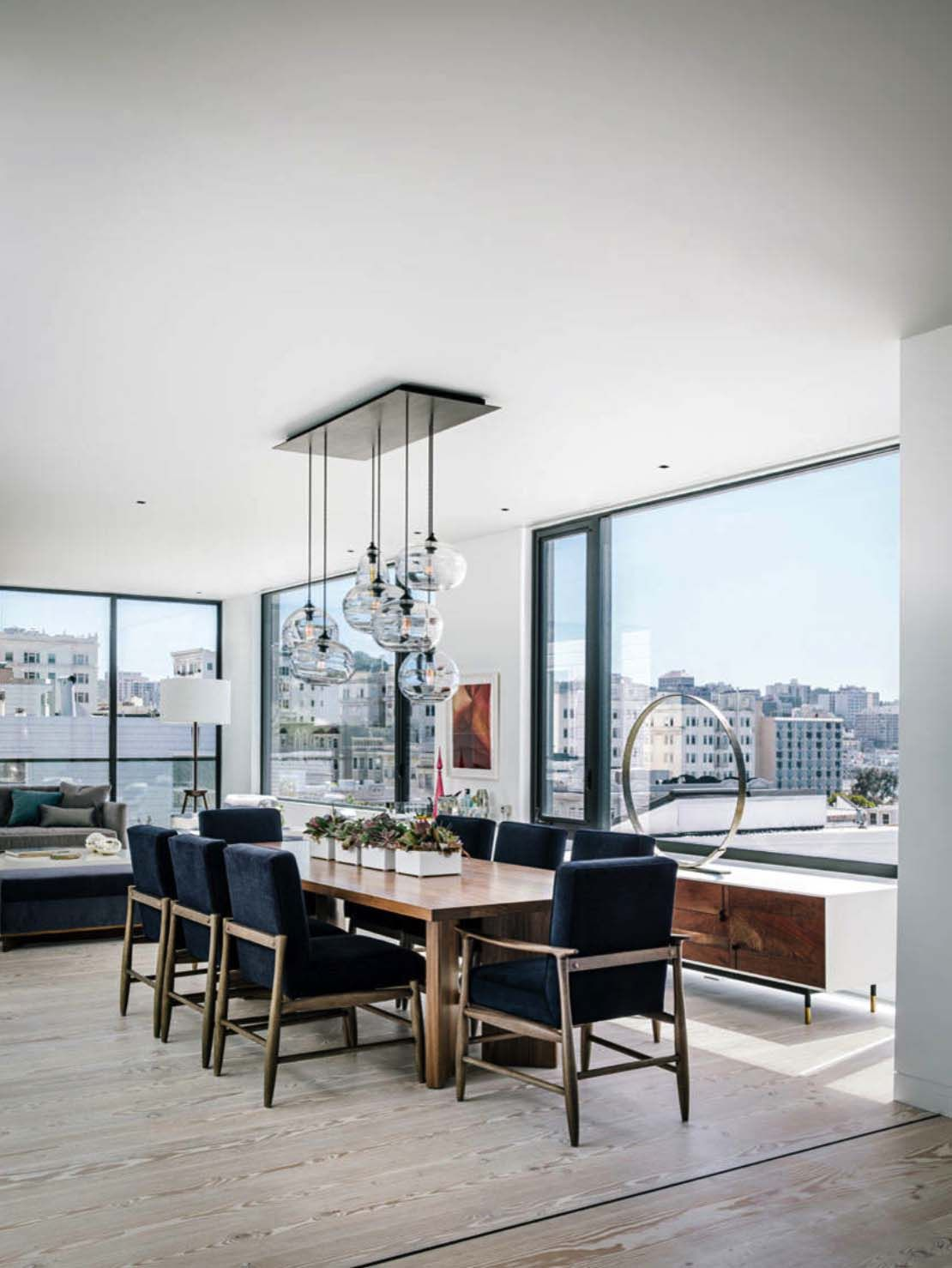 Mid Century Modern With Dramatic San Francisco Skyline Views