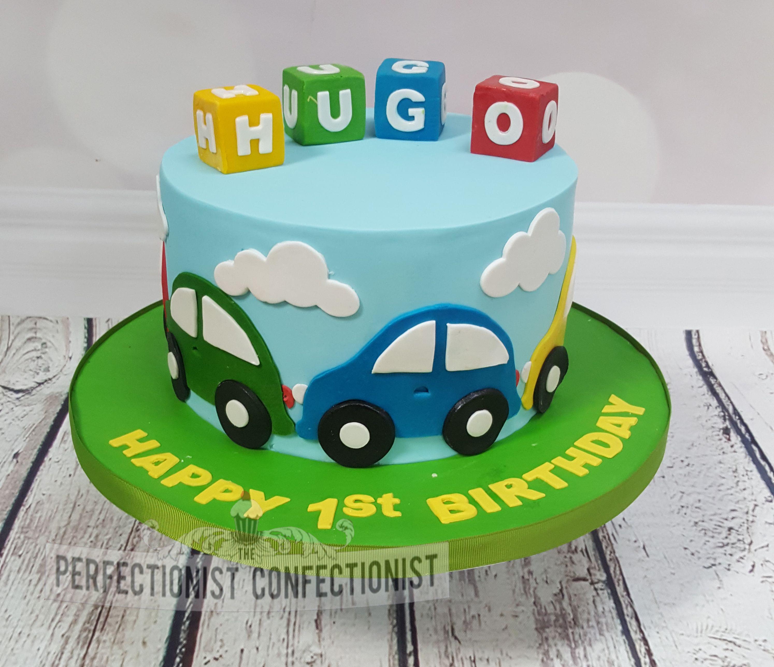 Surprising Cars First Birthday Cake Cars Birthday Cake Funny Birthday Cards Online Hendilapandamsfinfo