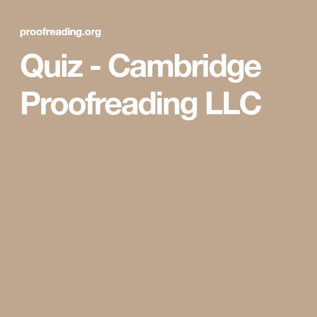 Quiz Cambridge Proofreading Llc Quiz Proofreader Career Quiz Buzzfeed