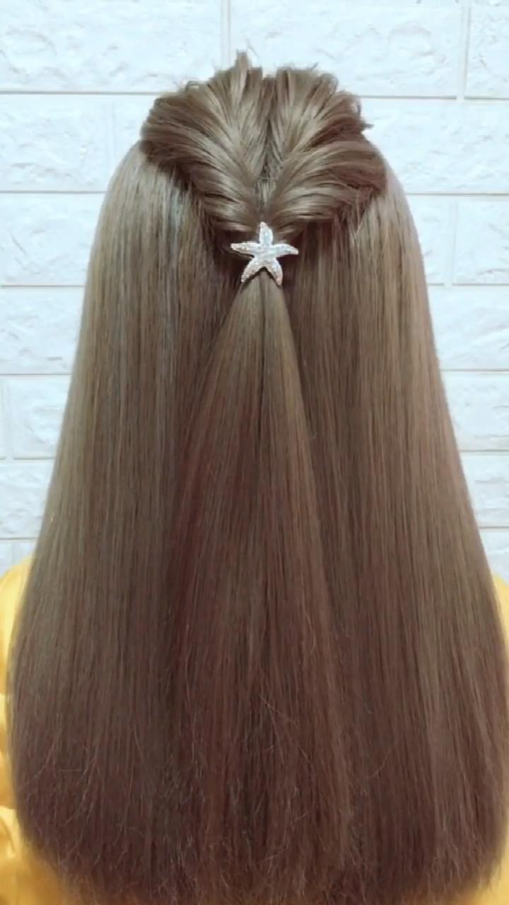 Upside Down French Braid Updo Hairstyle # upside down Braids tutorial