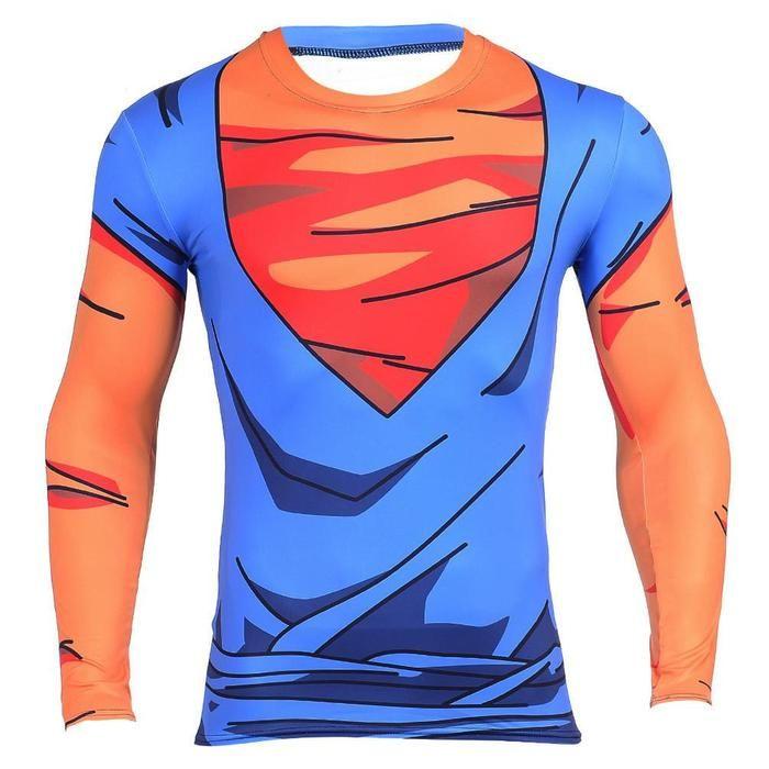 1b2e466315abd8 Vegetto Vegito Goku Vegeta Fusion 3D Workout Compression T-Shirt  dbz   dragonball  tshirts