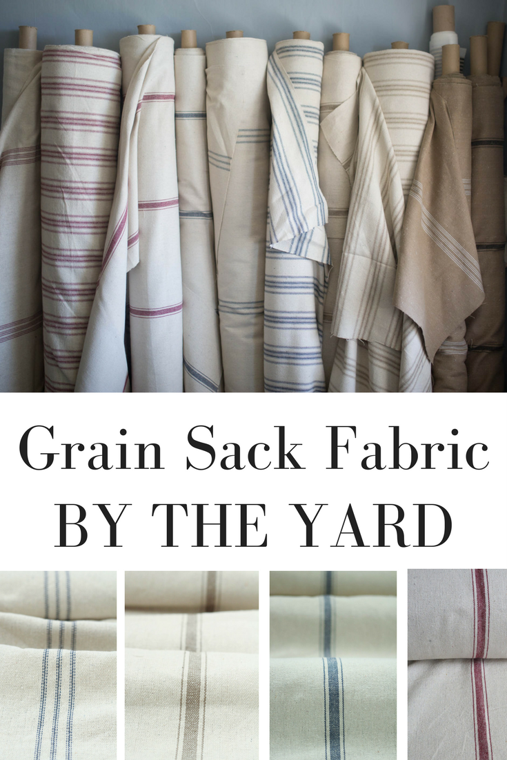 Grain Sack Fabric By The Yard For Farmhouse Decor Projects Great Pillows Slipcovers Upholstery And Curtains