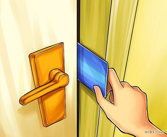 Open A Door With A Credit Card Credit Card Hacks Credit Card
