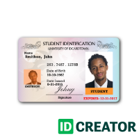 School Id Cards No Minimum Quantities Orders Order Id Badges On Idcreator 855 Make Ids Id Card Template School Id Employees Card