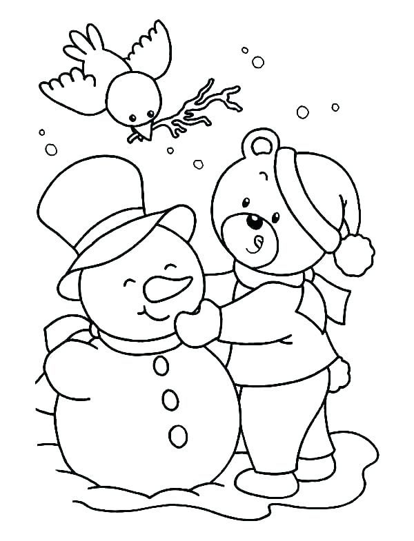 Free Printable Winter Coloring Pages For Kids  Snowman coloring