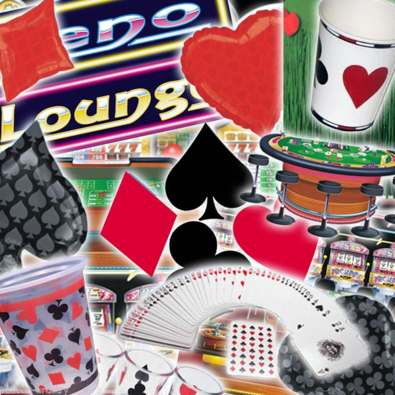 DIY Casino Party Decorations | eBay | Casino Party Playing Card Suit Balloons Decorations Tableware ...