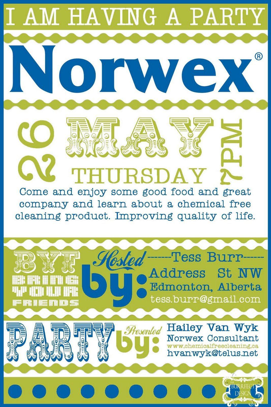 Burrfect Design Norwex Party Invite