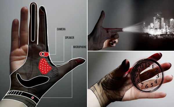 Hand-Tech Glove for gesture controlled augmented reality - freakishly fascinating and hopefully not too far off!