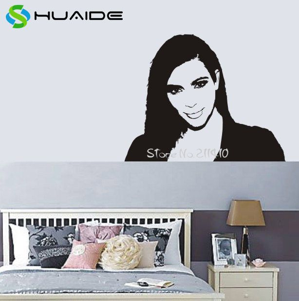 fashion queen kimberly kim kardashian vinyl wall decal on kim wall id=51487