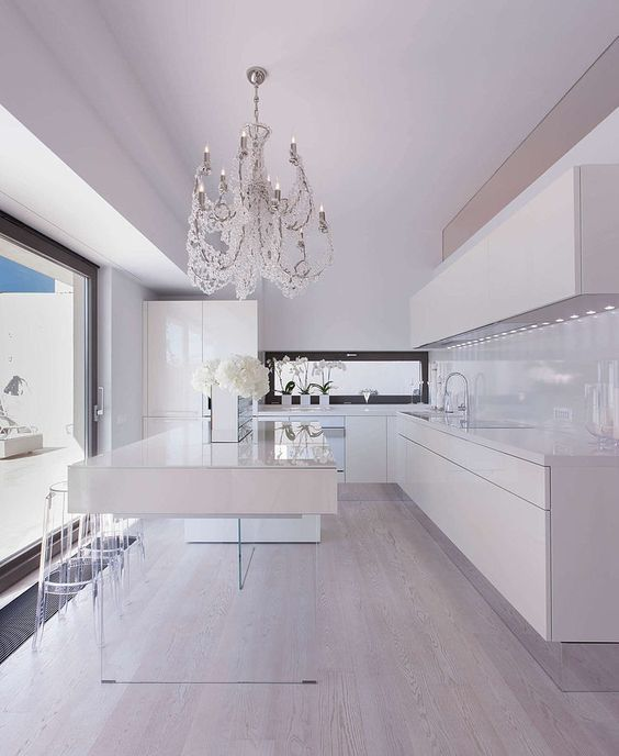 Total white per la cucina! 20 esempi per ispirarvi... | Kitchen idea ...