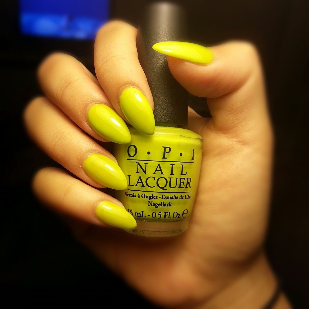 Did It On 'em #opi. Pointy Nails. Round Nails. Fluro Nails