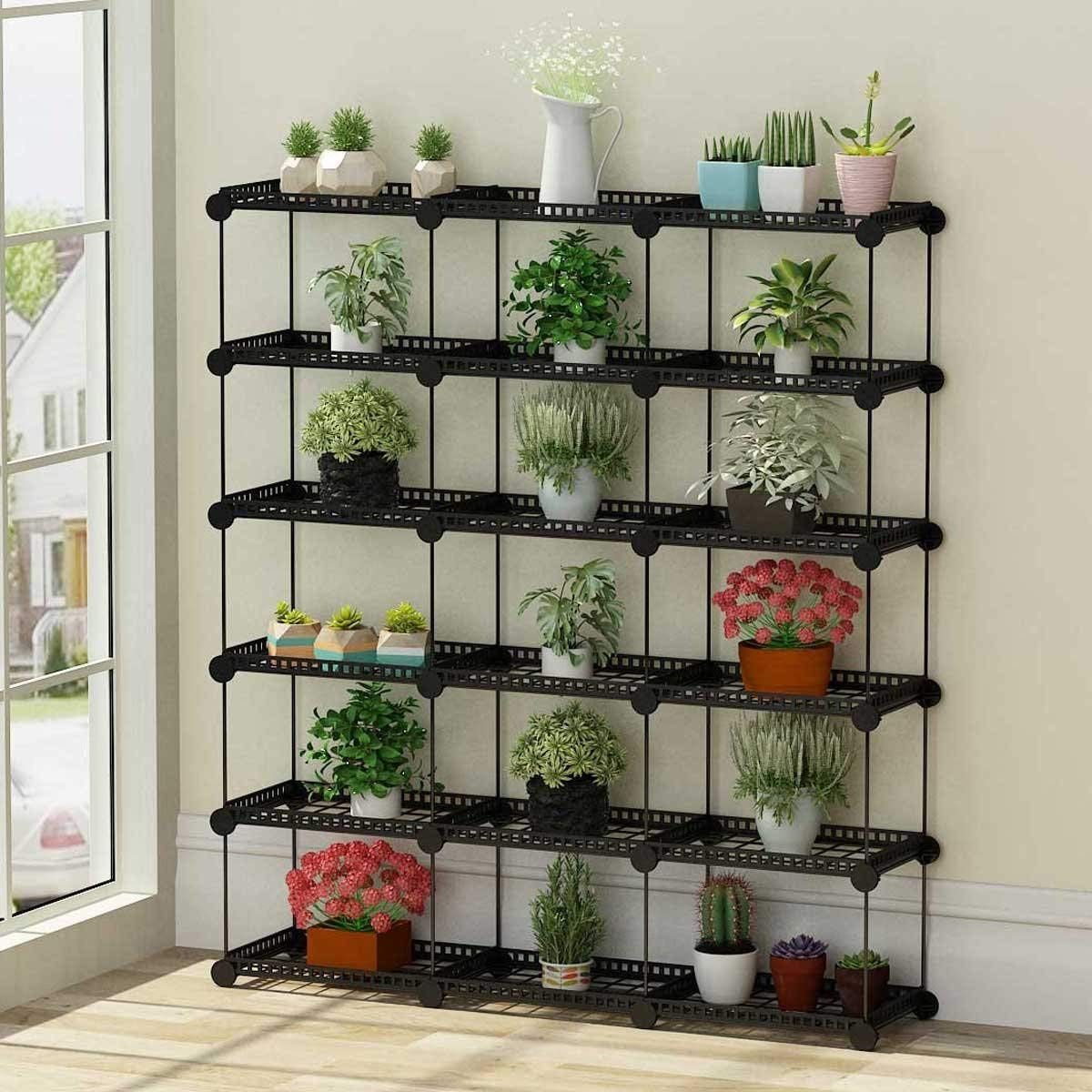 Portable Plant Stands Custom Shaped Succulents Pot Shelf Standing Baker S Racks For Flowers Metal Shelving Unit Plant Stand Garden Stand Hanging Garden