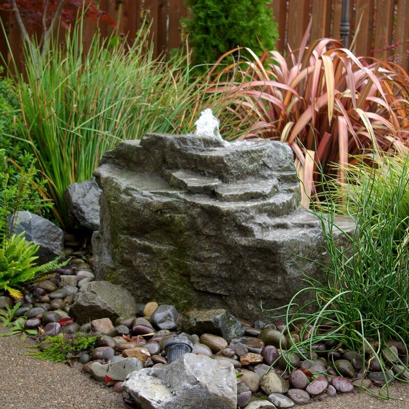 Glass Fiber Reinforced Concrete Rock Mountain Spring Pondless Fountain Kit In 2020 Landscaping With Rocks Rock Fountain Water Features In The Garden