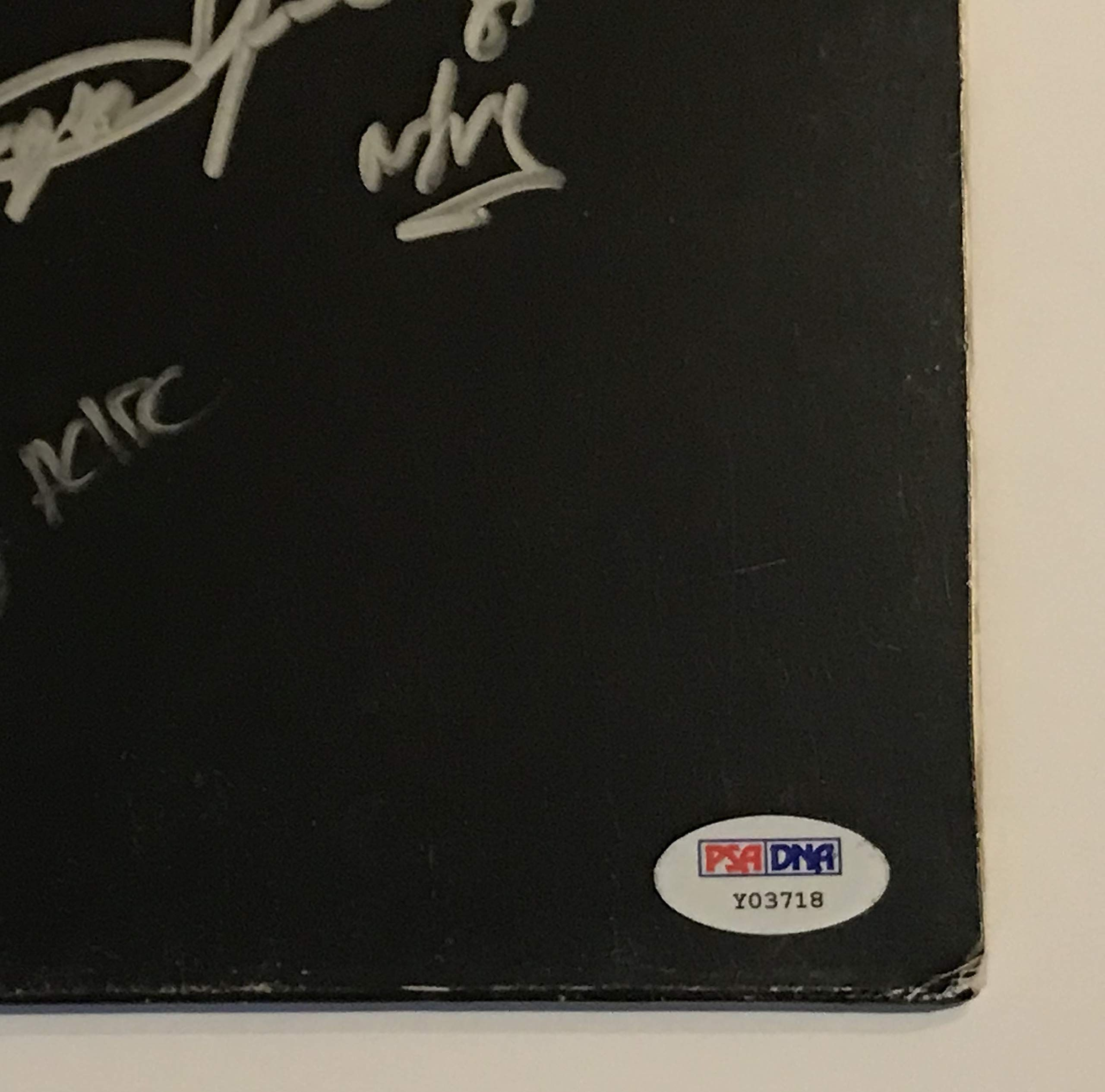 Ac Dc Signed Back In Black Album Malcolm Angus Young Brian Cliff