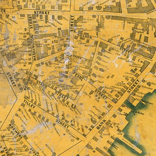 Downtown From An 1850 Map Of New London New London New London