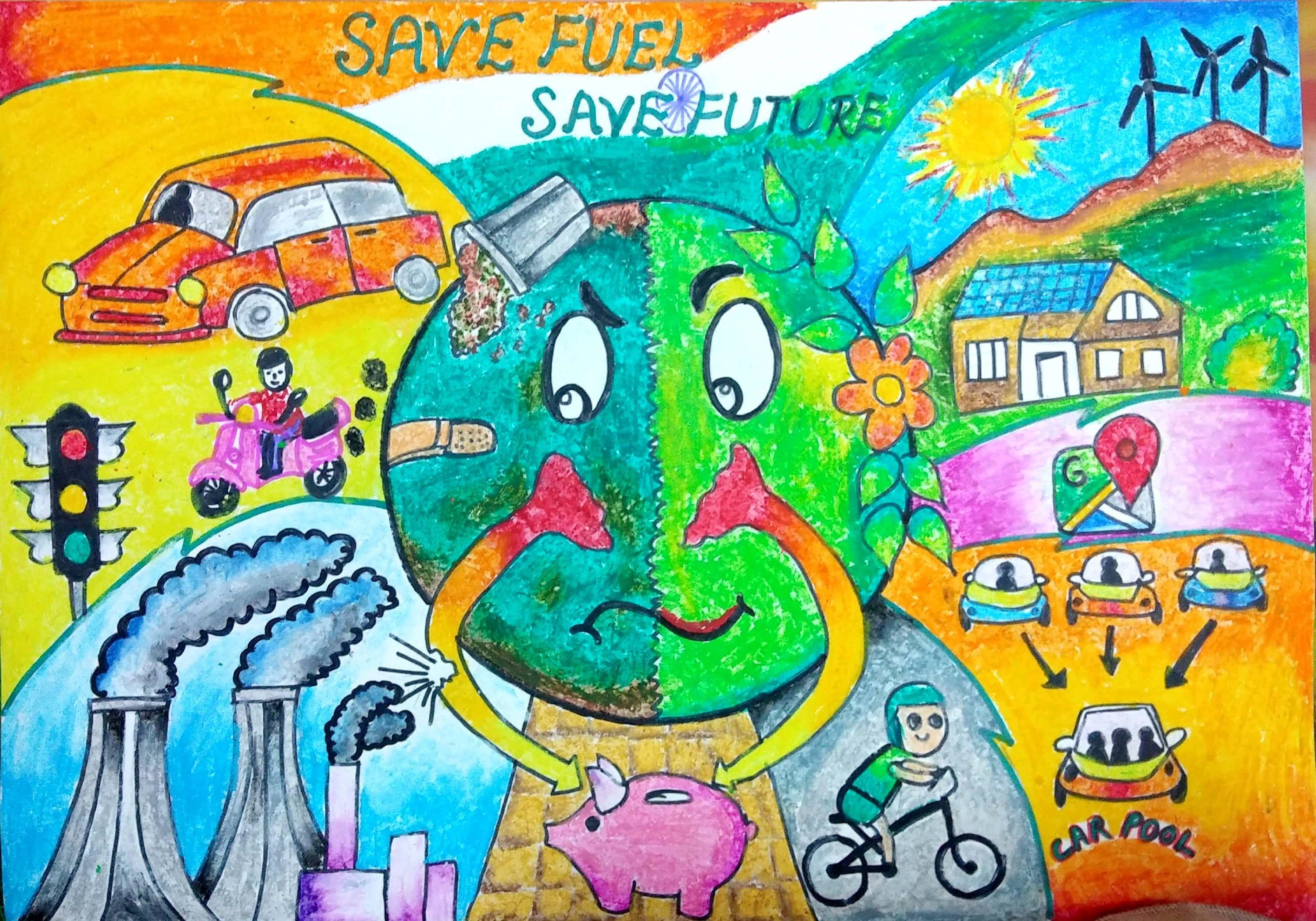 Kita membutuhkan bumi lebih dari bumi membutuhkan kita save earth drawing save water drawing