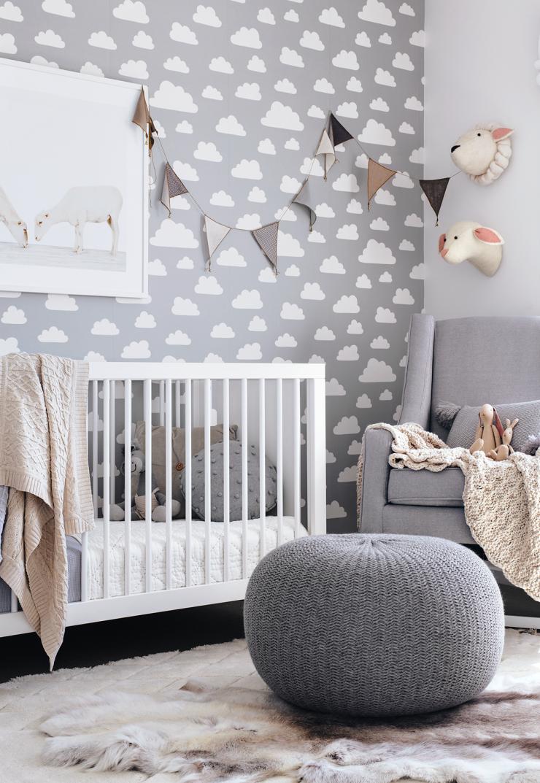 Christian's Nursery Baby nursery wallpaper, Nursery