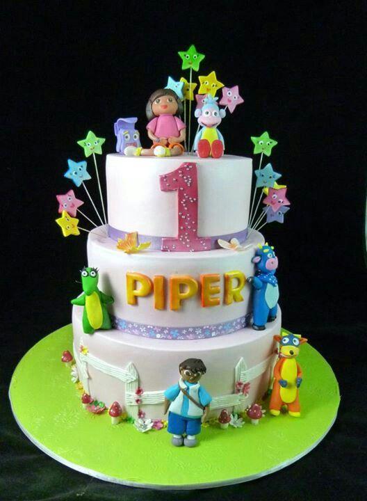 Dora n diego cake
