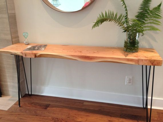 Console Table Solid Cedar Desk Plant Stand Coffee By Coolwoodbc 495 Rustic Side Table Console Table Entryway Tables