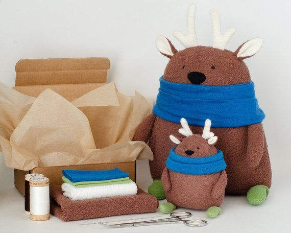 Doodles the Deer Free Sewing Pattern and Tutorial with Eco