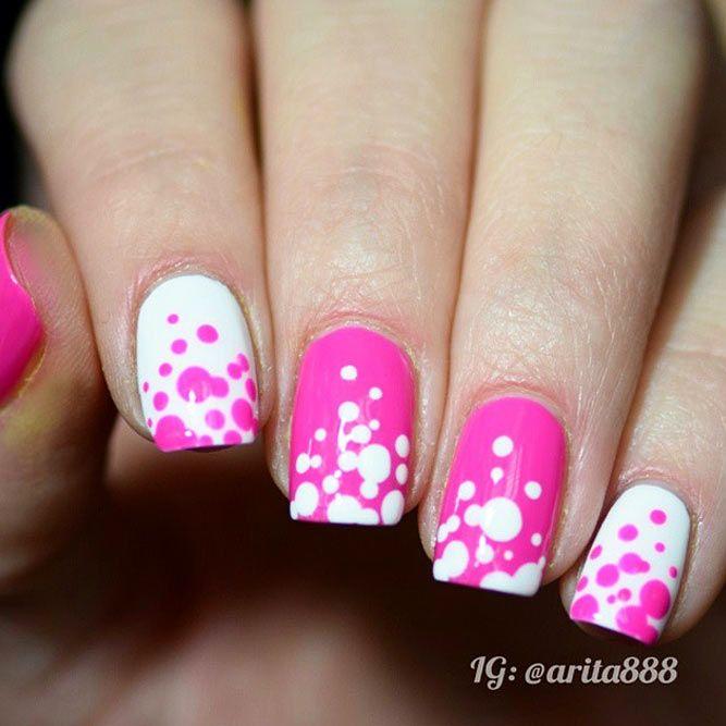 21 Nice Nails Designs With Cute Dots Nice Nail Designs Nail Color