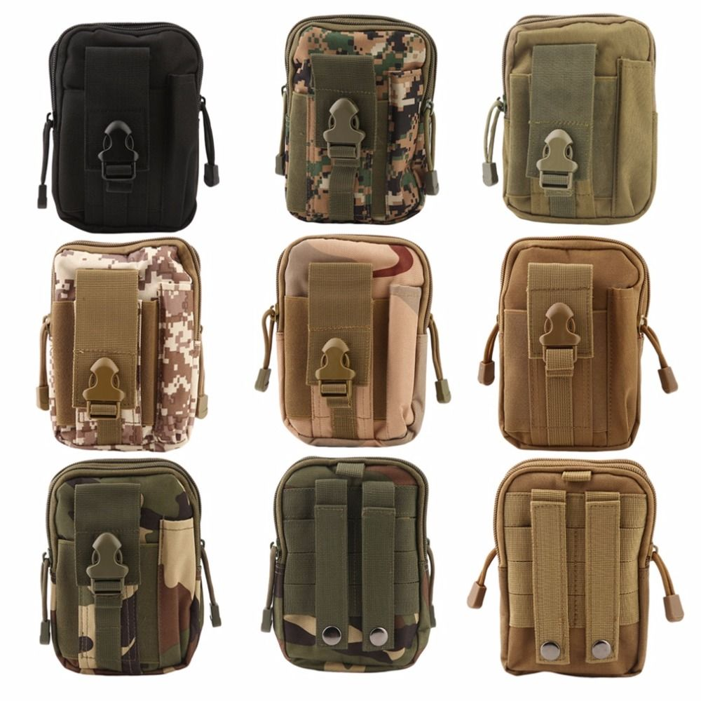 Outdoor Tactical Military Waist Pack Camping Hiking Wallet Phone Belt Pouch Bag