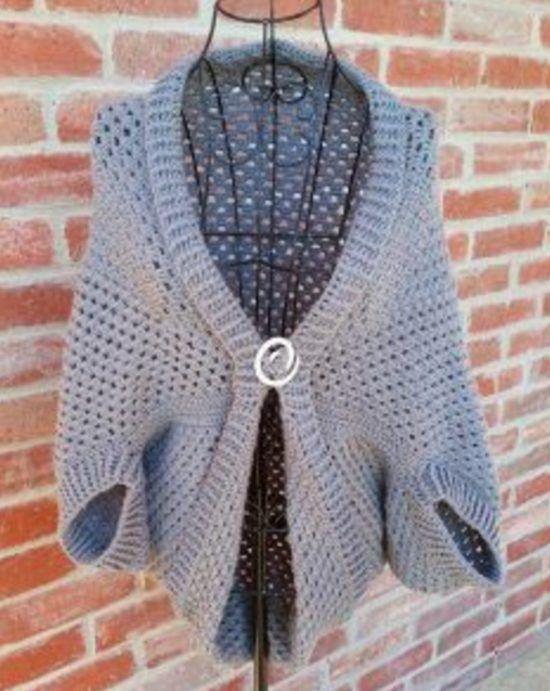 Crochet Cocoon Shrug Pattern Ideas | Suéteres largos, Ponchos y Tejido