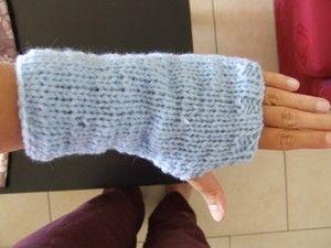 Modèle de mitaines au tricot faciles pour débutante et tutorial pour votre première couture au ...