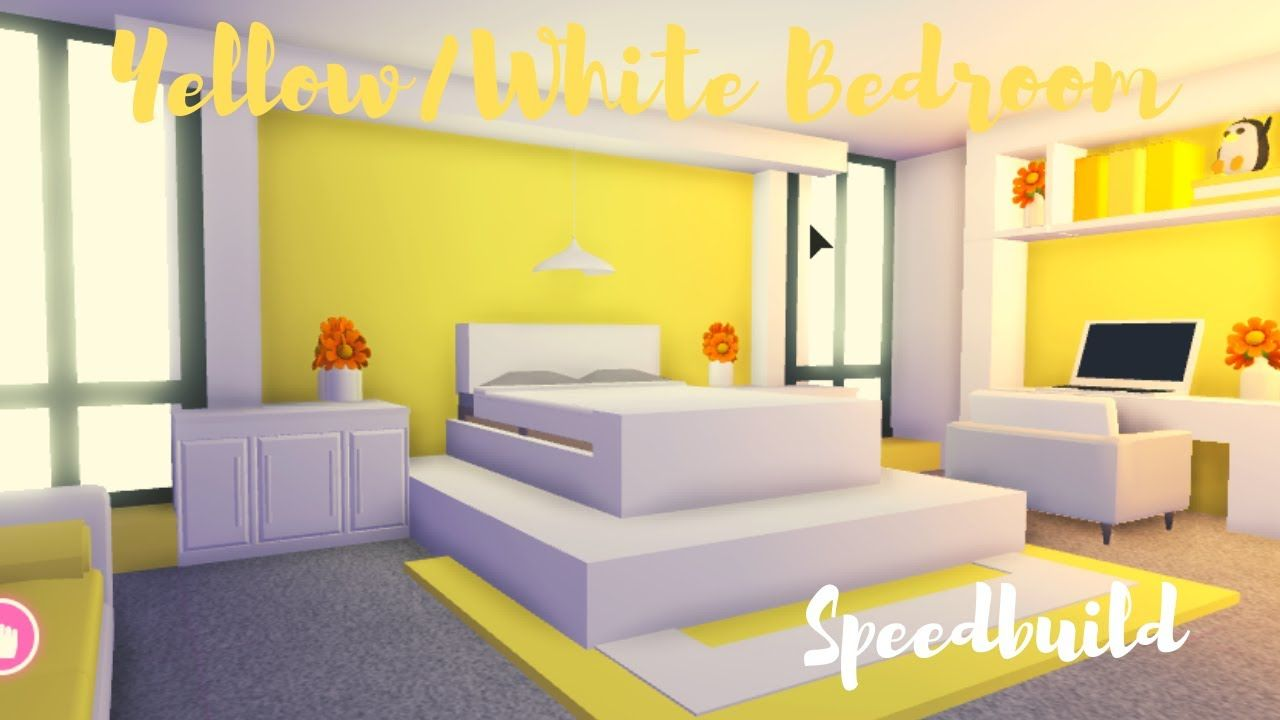 Yellow White Bedroom Speedbuild Adopt Me Roblox Youtube Cute Room Ideas My Home Design Cute Bedroom Ideas