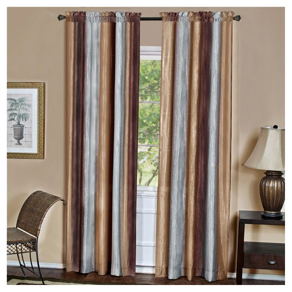 thermal room darkening drapes bedroom curtains itm brown insulated gold velvet