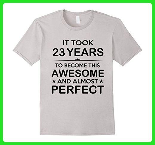 Mens Twenty Three 23 Year Old 23rd Birthday Gift Ideas Her Him Large Silver