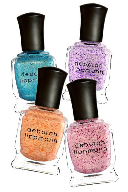 2013 TEXTURED TIPS: SPRING'S NEW NAIL ART: DEBORAH LIPPMANN Chock-full of both foil-like shimmer and multi-sized glitter, this gritty, iridescentpolish would put even the most shimmery of fish scales to shame. Deborah Lippmann Mermaid Collection Nail Polish