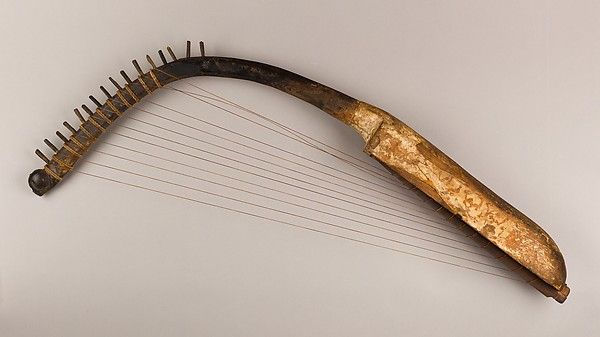 egyptian harp | Arched Harp (shoulder harp)