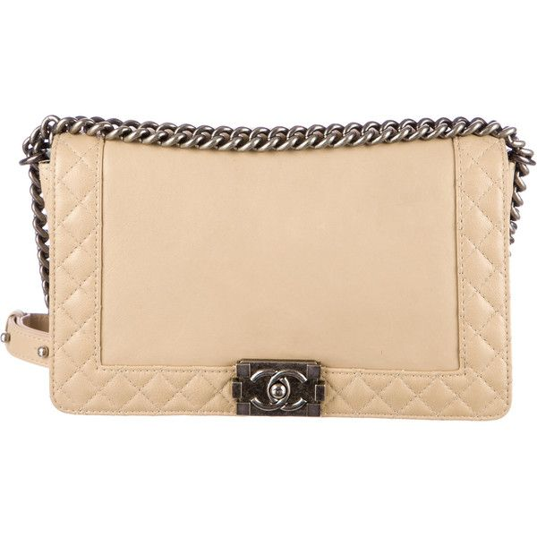 fd76ca5b6983 Pre-owned Chanel Boy Reverso Medium Flap Bag ($3,500) ❤ liked on Polyvore  featuring bags, handbags, brown, chanel handbags, brown leather handbags,  ...