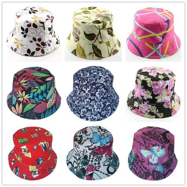 1f741de78a4d2 Bnaturalwell Retail new women floral Sun Hat Flower Canvas Bucket Hat  Summer Beach SunHat Girls caps