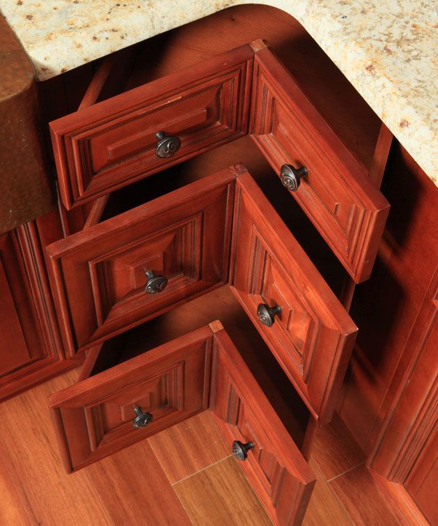 Best Three Drawer Corner Base Cabinet In Place Of A Lazy Susan 400 x 300