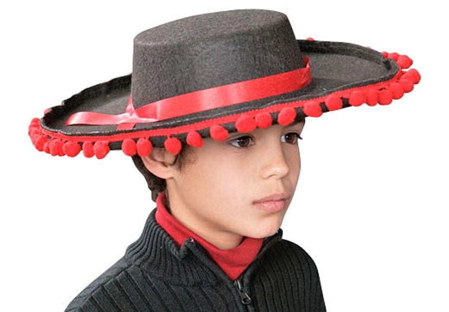 SPANISH FLAMENCO HAT - Rigid black felt b4308fa2b0d